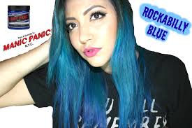 Blue Black Hair Dye Manic Panic