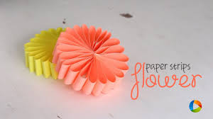 Flower Out Of Paper Diy Paper Strips Flower Youtube