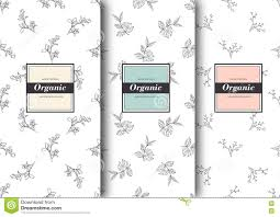 set of labels packaging for organic shop or natural cosmetics set of labels packaging for organic shop or natural cosmetics vector floral patterns template
