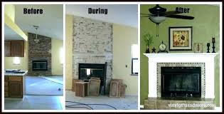 refacing fireplace with stone veneer refacing fireplace with stone veneer faux surround installation cost t reface