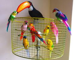 diy birdcage lampshade