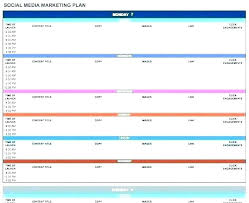 Production Schedule Template Excel Free Download Media Plan Template Free Download Advertising Production