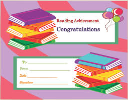 parenting certificate templates reading achievement award certificate template