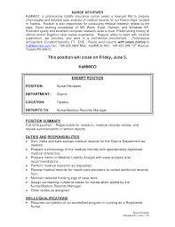Cover Letter Medical Records Resume Sample Director Of Medical