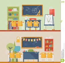 Modern Math Classroom Design Classroom For Literature And Mathematics Stock Vector