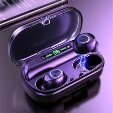 V10 TWS <b>Bluetooth</b> Earphone LED Digital Power Display Wireless ...