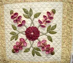 Amazing applique' in my favorite color - purple. #Quilt #Applique ... & WOW!!! I don't know about you, I only know about Adamdwight.com