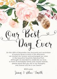 Wedding Announcement Photo Cards Elopement Announcement Cards Our Best Day Ever Printed Elopement