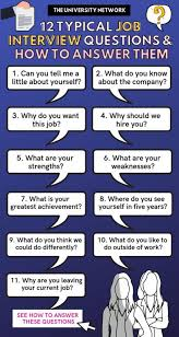 How To Answer Job Interview Questions 12 Typical Job Interview Questions How To Answer Them The