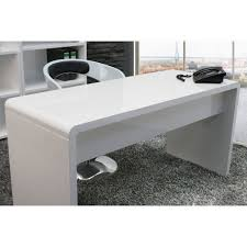 high office desk. lumiere curved home office desk in high gloss white
