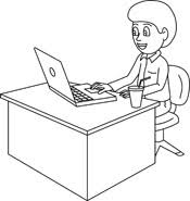 desk clipart black and white. pin office clipart black and white #2 desk