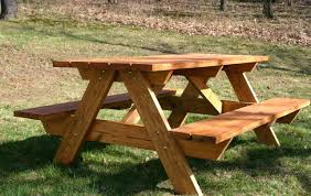 How To Make A Picnic Table Out Of Wood Pallets Diy Separate Benches Build  Kit. How To Build A Round Picnic Table Around Tree Diy Cheap Make Out Of  Wood ...