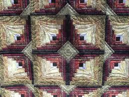 Kinabalu by Jessica's Quilting Studio, beautiful quilt & quilting ... & Kinabalu by Jessica's Quilting Studio, beautiful quilt & quilting! Wow -  love this interpretation of the log cabin block! Adamdwight.com