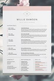 Modern 2 Page Resume Template And Indesign 2016