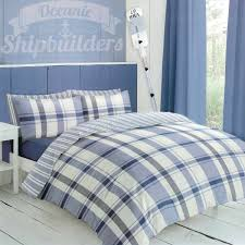covers detroit blue flannelette duvet set expand
