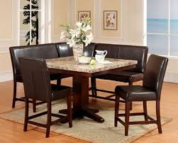 leather breakfast nook furniture. Breakfast Furniture. This 6 Piece Espresso Dining Nook Set Includes An Artificial Marble Square Table Leather Furniture