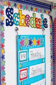 Light Blue Marquee 14 Pocket Chart Classroom Schedule