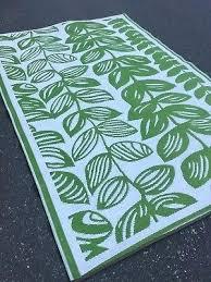 fab habitat rugs recycled plastic indoor outdoor rug green cream tropical leaf australia fab habitat rugs