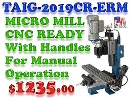 taig 2019cr erm manual handles attached cnc ready desktop micro mill made by taig tools