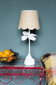 Raffia scallop lampshade with cream cotton trim. Base 10\