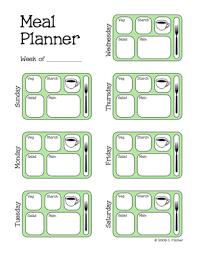 Diabetic Meal Planner Free Pennies And Pounds Templates For Meal Planning In 2019