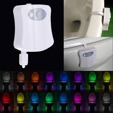 Battery Operated Dusk Till Dawn Light Catapong 16 Colors Led Toilet Light Motion Activated Light