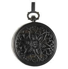 iron vintage style round wall clock