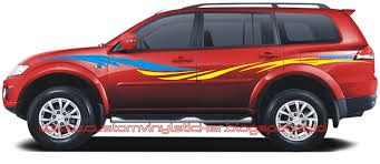 Pajero Sticker Design Mitsubishi Pajero Sport Red Custom Stripe Sticker Concept