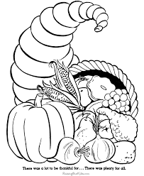 Free Thanksgiving Cornucopia Coloring Pages – Happy Easter ...