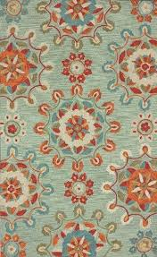 turquoise and orange rugs orange and turquoise area rugs presents faded medallions spa blue hand tufted
