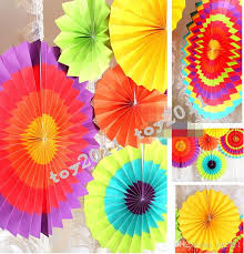 2018 fiesta paper fan decorations paper fan whole tissue paper fan crafts party wedding home decorations from toy2016 783 92 dhgate com
