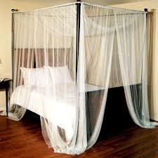 Decorating: Cool Canopy Curtains With Quick And Easy Installation ...