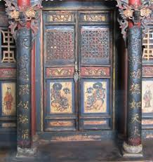 brightly painted furniture. Chinese Gansu Furniture - Family Shrine Brightly Painted L