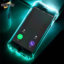 Call Flash Light In Iphone Us 1 99 40 Off Kisscase Led Flash Light Case For Iphone 6 6s 7 8 Plus 5 5s Call Light Tpu Phone Case For Iphone X Xs Max Xr Anti Knock Fundas In