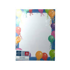 Kole Imports Op894 48 Balloon Border Stationery Paper 44