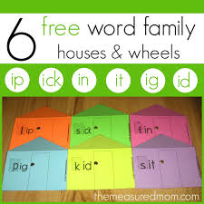 Activities Word Word Family Houses For Short I The Measured Mom