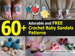 Free Crochet Patterns For Baby Sandals Interesting Inspiration Ideas
