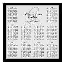 Template Wedding Seating Chart Monogram Names