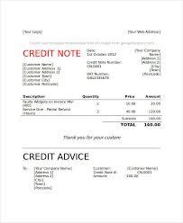 Credit Memo Letter 100 Credit Note Examples Samples 13