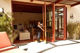 folding glass patio doors.  Glass AG Millworks Bifolding Wood Clad Patio Door Inside Folding Glass Doors N