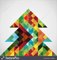Retro Holidays Holidays Retro Mosaic Christmas Tree Stock Illustration I3488031