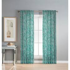 window elements sheer pinehurst printed 54 in w x 84 in l rod pocket