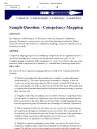Sample Question Competency Mapping Industrial And