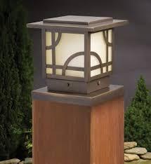 lighting for decks. kichler 15474oz larkin estates olde bronze 6 inch 1 light deck post lighting for decks