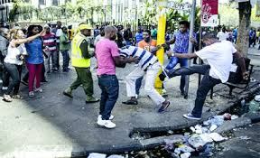 Image result for south african police attack nigerians