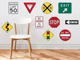 street sign furniture. Sunny Decals Street Signs Fabric Wall Sign Furniture