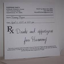 Prescription Pad Party Invitation Chicago May Dec Medical