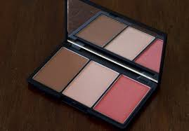 sleek face form contouring highlighting blush palette