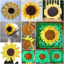 Crochet Sunflower Pattern Impressive 48 DIY Crochet Sunflower Pattern Check The Video