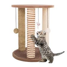 cat scratching post in the cat trees